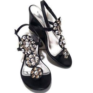 White House Black Market Wedge Maya Shoes Size 9M